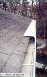 LeavesOut Gutter Cover Installation on High Gutters