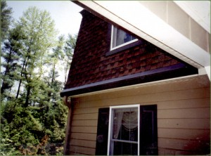 LeavesOut Gutter Cover on a Non-Traditional Roof Style