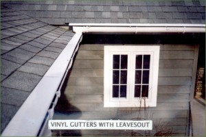 Vinyl Gutters with LeavesOut Gutter Cover